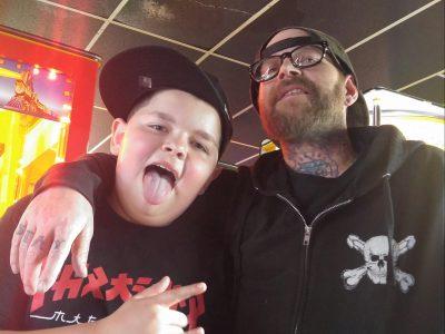 Rick Hozjan with his son